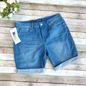 New Calvin Klein Jean Shorts Rolled Hem Longer